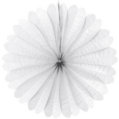 Eventail en papier ignifugé Ø 50 cm - blanc