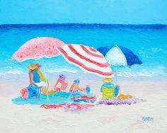Summer Beach Vacation!  #beachpaintings #beachart #beachdecor #beachwalldecor #beachlife