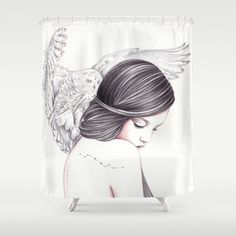 Silent+Shower+Curtain+by+Andrea+Hrnjak+-+$68.00
