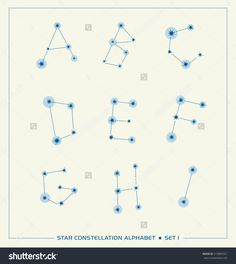 star constellation alphabet letters font set 1
