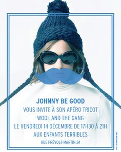 Gang lovers from Geneva, there's no way to miss Johnny be Good Knitting Party next week! It's the perfect opportunity to meet crazy knitters, exchange some stitches tips and enjoy a nice moment. We hope to see you there! Johnny Be Good, Johnny Was, Brand Power, Knit Crochet, Crochet Hats, Fashion Brand, Winter Hats, Wool, Geneva
