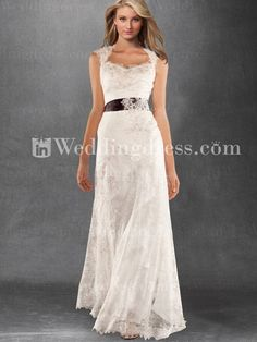 Vintage-Inspired Keyhole Back Tulle Lace Satin Wedding Gown   - Got to find out designer name and dress name.