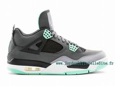 brand new a605c 3ea73 Chaussures Nike BasketBall Pas Cher Pour Homme Air Jordan 4 IV Retro Green  Glow 308497