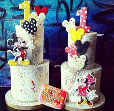 Mickey and Minnie birthday cake