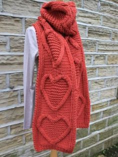 nit this super long accessory scarf designed exclusively for Knitrowan by Martin Storey. Using one of our most popular yarns Big Wool (wool), this scarf features cabled hearts with garter stitch in the centre and a reverse stocking stitch background Rowan Knitting Patterns, Knitting Wool, Free Knitting, Big Wool, Rowan Yarn, Scarf Design, Long Scarf, Knit Crochet, Garter Stitch