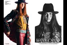 Wild Child - Jute Magazine on Behance Work Fashion, Fashion Beauty, Beauty Portrait, Wild Child, Jute, Kimono Top, Magazine, Children, Behance