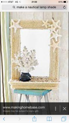 Seaside rope mirror decor