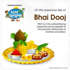 On this auspicious day of #BhaiDuj, #MMFunCity wishes #lifelong #happiness and prosperity to this beautiful relationship of #brothers and #sisters.