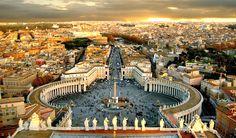 Saint Peter's Square, Rome, Italy, Beautiful vantage point