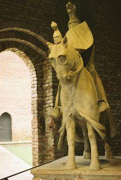 Statua di Cangrande a Castevecchio - Verona 2011