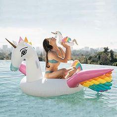 Rainbow Unicorn Drink Holder Float by FUNBOY