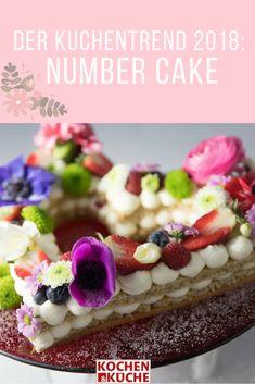 Ein Number Cake in Herzform (Foto (c) Claudia Plattner), Cream Tart, Letter Cake, Buchstabenkuchen, Zahlenkuchen Tart, Waffles, Cheesecake, Breakfast, Desserts, Food, Baking Cookies, Kuchen, Morning Coffee