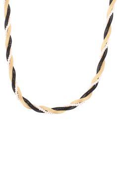 Sautoir torsadé perles et métal Jeanne Doré Molly Bracken sur MonShowroom.com