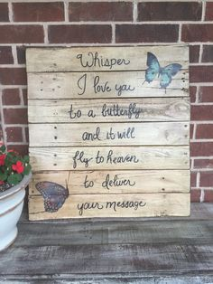 Whisper i love you to a butterfly.... by WoodenCreationsbyKim