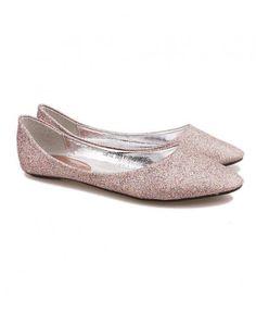 PU Leather Glitter Slipper Shoes