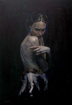 """""""Mermaid"""" Oil on canvas  130×90 cm   2015 Gnievyshev Oleksii"""
