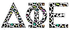 Colorful Leopard #Deltaphiepsilon #dphie #sorority #gogreek #mygreekletters