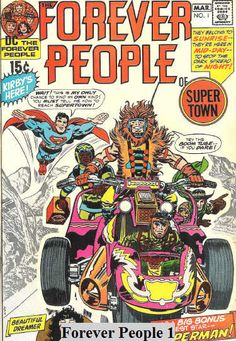 FOREVER PEOPLE 1, JACK KIRBY, BRONZE AGE DC COMICS