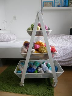 Just bought a Risatorp at #Ikea ! Great for my yarn storage :-)