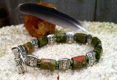 Men's Bracelet w/ Unakite men's jewelry by StefaniFixCollection