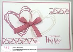 Wedding card in Sweet Sugarplum with Floral Themes and the Sunshine Wishes Thinlits. #weddingcards #stampinupaustralia