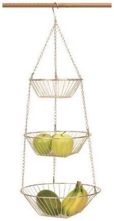 RSVP 3-Tier Copper Wire Hanging Baskets