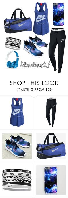"""""""#Nike Workout!"""" by readingrocks03 ❤ liked on Polyvore featuring NIKE, Beats by Dr. Dre, nike, gymwear and 2015wishlist"""