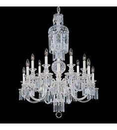 Fairfax 14 Light 110V Chandelier in Silver with Clear Heritage Crystal photo