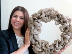 How to make a Burlap Wreath | 2 Minute Tutorial - YouTube