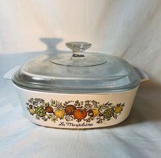 Daisy Floral Bouquet microwave safe casserole rare Corning P-4-B 1.5 quart baking dish Vintage Corning Ware casserole dish glass baker