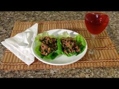 Asian Lettuce Wraps-How To Make Chicken Turkey Lettuce Wraps-American Comfort Food - YouTube