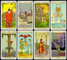 """Tarot of the New Vision--Rider-Waite in reverse, so you can see from the perspective of the subjects, as well as see what is going on behind the """"scene"""". Great new insights!"""