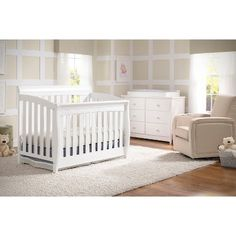 Simmons Kids 174 Sophia 2 Piece Convertible Crib Set Gray