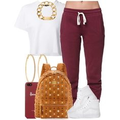 Chill Monday. by livelifefreelyy on Polyvore featuring polyvore, fashion, style, Proenza Schouler, LA: Hearts, Vans, MCM, Michael Kors, Roberta Chiarella and Harrods