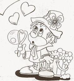 Cadastre o seu e-mail e receba todas as atualizações grátis!    Escreva aqui seu... Coloring For Kids, Coloring Pages For Kids, Coloring Sheets, Coloring Books, Creepy Drawings, Cute Drawings, Precious Moments Coloring Pages, Clown Party, Painting Templates