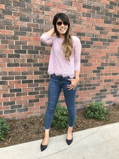 This lace top was from last season but I love the lace and fringe combo so I linked some dupes for you. #springstyle #getthelook #shopthelook #mylook