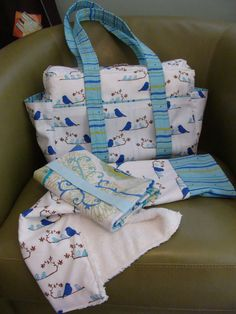 Great Diaper Bags --- custom made from your fabric or ours. $125.00, via Etsy.