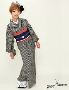 """Contemporary kimono outfit by the designers """"Modern Antenna"""""""