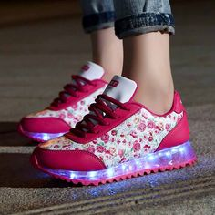 Fashion 7 Color luminous shoes for women LED light shoes sneaker