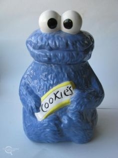 We had this when we were little. Cookie Monster cookie jar