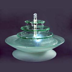 "Battery Operated 13"" Frosted Glass Fountains $64  pretty :)"