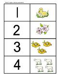 Number/sets matching cards for preschool, preK and Kindergarten children