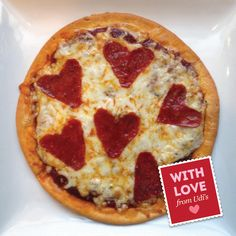 Bring #romance to a whole other level with our Heart Warming Pizza!