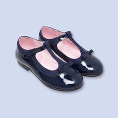 Patent leather t-strap flats - Girl - NAVY BLUE - Jacadi Paris
