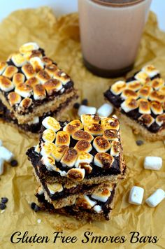 May I Have That Recipe | Dairy and Gluten Free S'mores Bars | http://mayihavethatrecipe.com