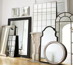 Crafted with a bronze or silver finish, our Eagan Multipanel Large Mirror adds a clean graphic element to the room. Small florets where the framework intersects add stylish accents. Place it over a console in an entry or a buffet in a dining area … Beaded Mirror, Rope Mirror, Arch Mirror, Floor Mirror, Pottery Barn Lighting, Pottery Barn Mirror, Modern Outdoor Furniture, Home Furniture, Modern Chairs