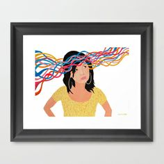 Lucid Framed Art Print... #art #yellowart #homedecor #homedesign #illustration #moderndecor #interiordesign #wallart #modernart #contemporaryart