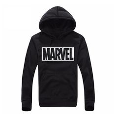 New Arrival!  Marvel letter Pri... Shop many other products here!  http://menstreetwearinstyle.com/products/marvel-letter-print-black-pullover-hoodie?utm_campaign=social_autopilot&utm_source=pin&utm_medium=pin