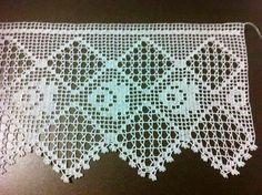Me gusta crochet Crochet Boarders, Crochet Lace Edging, Crochet Mandala, Crochet Squares, Love Crochet, Crochet Flowers, Hand Crochet, Filet Crochet, Crochet Chart