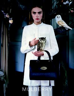 Classic Handbag I Mulberry Fall 2013 Ad Campaign I Cara Delevingne photographed by Tim Walker